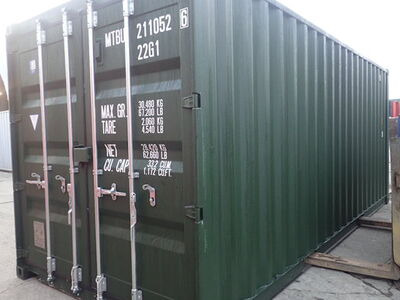 SHIPPING CONTAINERS 20ft ISO green MTBU2110526 click to zoom image