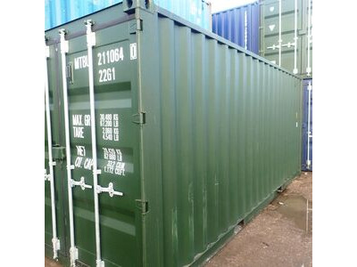SHIPPING CONTAINERS 20ft green 41556 click to zoom image