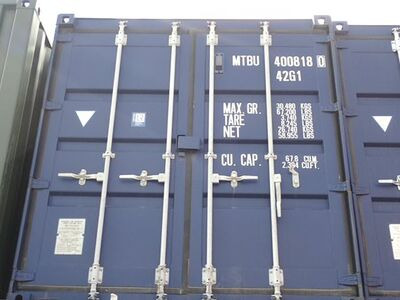 SHIPPING CONTAINERS 40ft ISO blue MTBU4008180
