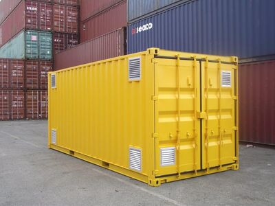 SHIPPING CONTAINERS 20ft once used Falcon chemical store F20