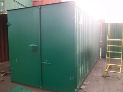 SHIPPING CONTAINERS 20ft S1 doors with Grafotherm and electrics HL13