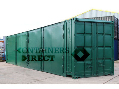 SHIPPING CONTAINERS 40ft with 2 sets of doors in side SD40