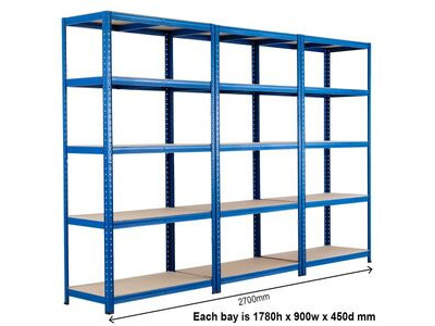 SHIPPING CONTAINERS Connectable container shelving bays - pre fitted