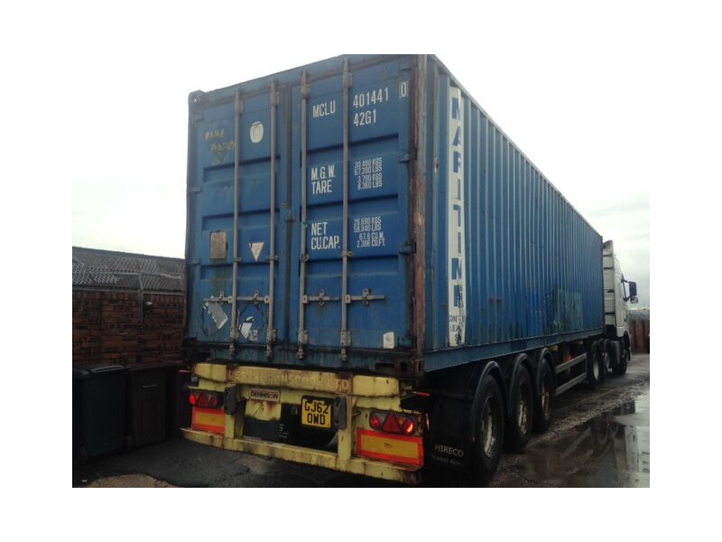 SHIPPING CONTAINERS 20ft metal container blue click to zoom image