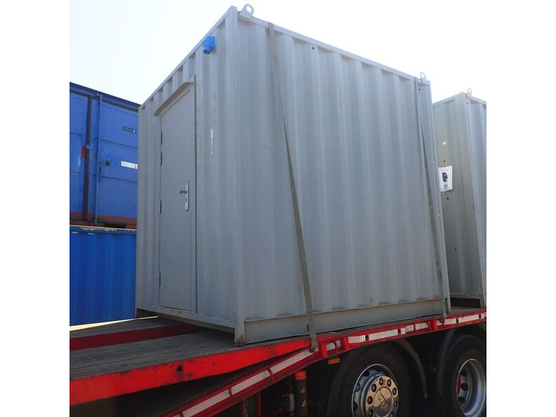 SHIPPING CONTAINERS 8ft tunnel container with personnel doors and electrics T801 click to zoom image