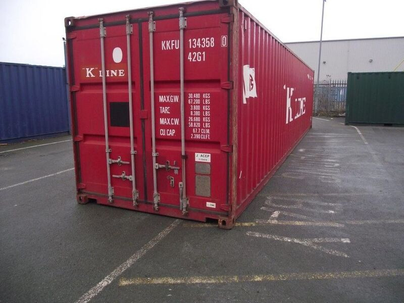 SHIPPING CONTAINERS 40' Metal Container click to zoom image