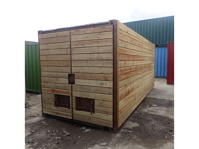 SHIPPING CONTAINERS 10ft once used cladded container - Clean Cut CLO10 click to zoom image