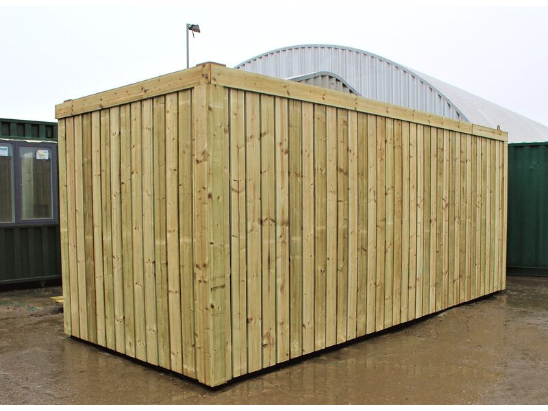SHIPPING CONTAINERS 15ft used cladded container - Clean Cut CLU15 click to zoom image