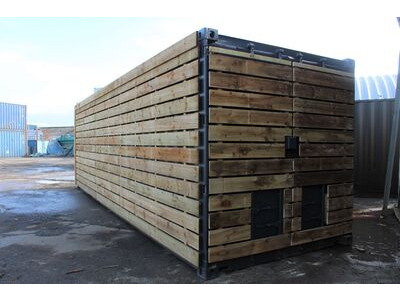 SHIPPING CONTAINERS 20ft once used cladded container - Classic Rustic CLO20