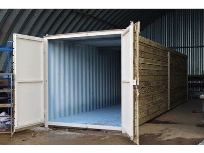 SHIPPING CONTAINERS 25ft once used cladded container - Classic Rustic CLO25 click to zoom image