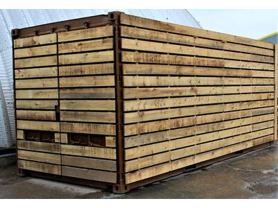 SHIPPING CONTAINERS 20ft used cladded container - Classic Rustic CLU20