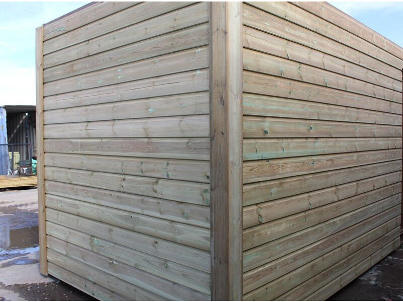 SHIPPING CONTAINERS 20ft once used cladded container - Seamless Shiplap CLO20 click to zoom image
