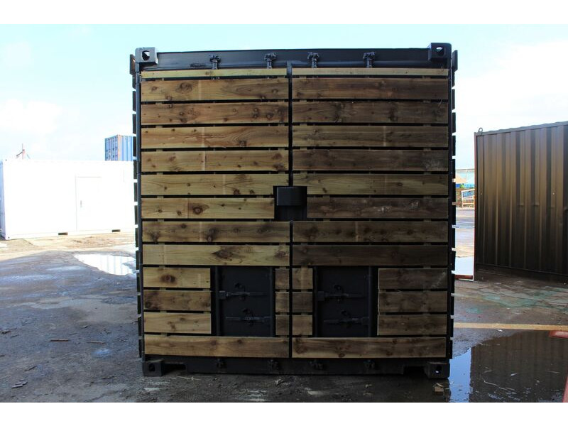 SHIPPING CONTAINERS 40ft once used cladded container - Classic Rustic CLO40 click to zoom image