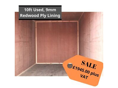 SHIPPING CONTAINERS 10ft S2 ply lined HL24