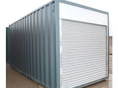 SHIPPING CONTAINERS 15ft roller shutter door S4