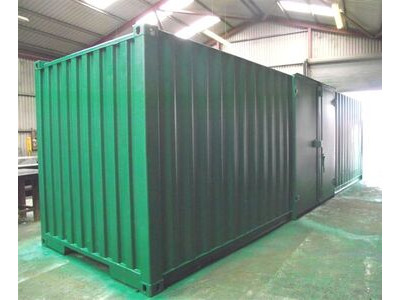 SHIPPING CONTAINERS 30ft side doors and grafotherm SC35 click to zoom image