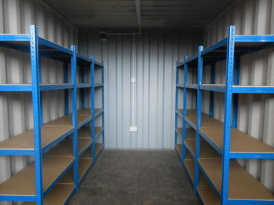 SHIPPING CONTAINERS 10ft with shelving and electrics SC71 click to zoom image