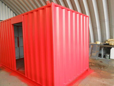 SHIPPING CONTAINERS 14ft conversion with aperture SC86 click to zoom image