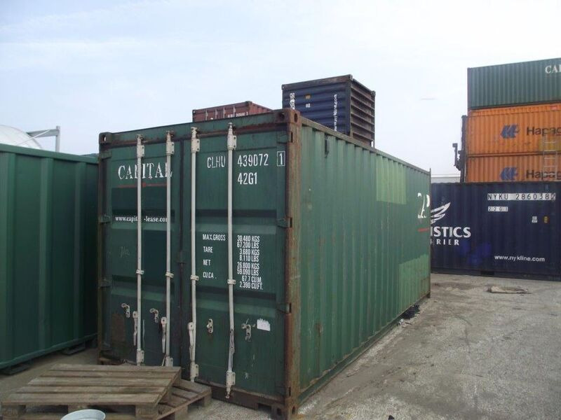 SHIPPING CONTAINERS 20ft Original doors 15703 click to zoom image