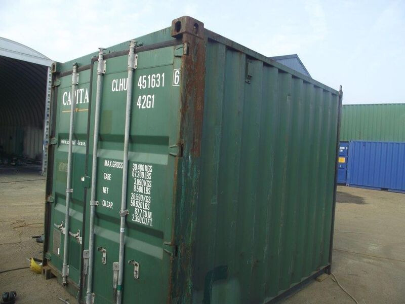 SHIPPING CONTAINERS 10ft original doors 65256 click to zoom image