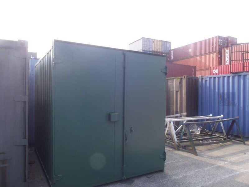 SHIPPING CONTAINERS 10ft S1 doors 15416 click to zoom image