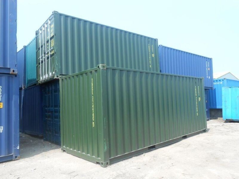 SHIPPING CONTAINERS 20ft Green 15847 click to zoom image