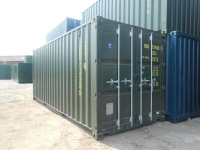 SHIPPING CONTAINERS 20ft green 14608