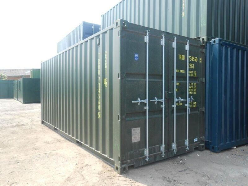 SHIPPING CONTAINERS 20ft green 65489 click to zoom image
