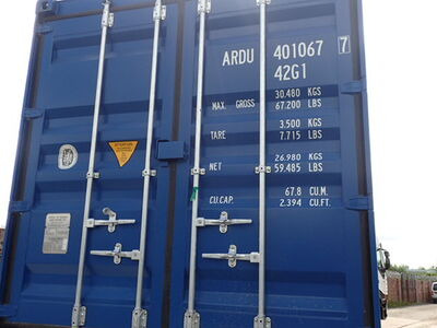 SHIPPING CONTAINERS 40ft ISO 56490