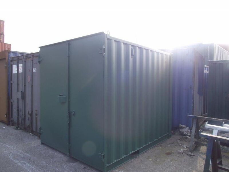 SHIPPING CONTAINERS 10ft S1 doors 34629 click to zoom image