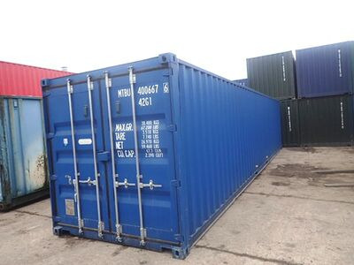 SHIPPING CONTAINERS 40ft ISO blue MTBU4006676