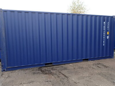 SHIPPING CONTAINERS 20ft ISO blue 21516 click to zoom image