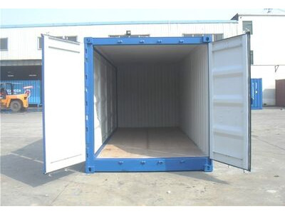 SHIPPING CONTAINERS 20ft full side access green 17407 click to zoom image