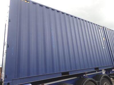 SHIPPING CONTAINERS 20ft high cube blue click to zoom image