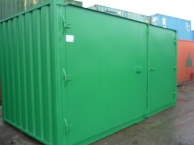CONTAINER CONVERSION CASE STUDIES 16ft extra wide doors CS18310