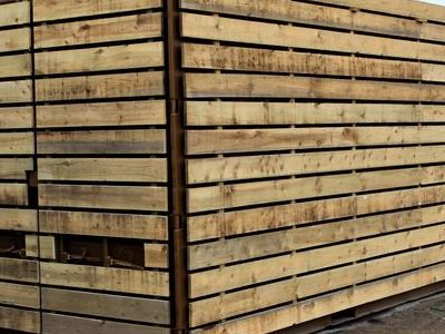 Cladded Shipping Containers 20ft Used S2 - Rustic Cladding and Plylined 9mm Redwood