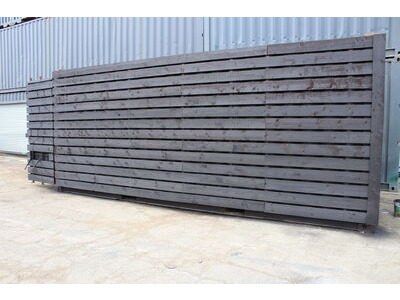 Cladded Shipping Containers 20ft with ply lining, black rustic cladding HL32 click to zoom image
