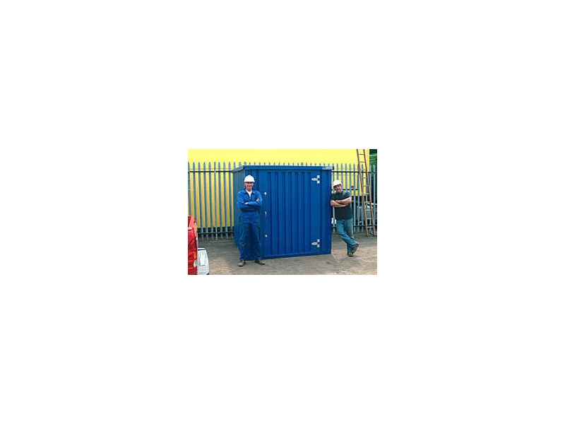 FLAT PACK CONTAINERS FOR SALE 2m self assembly blue 41054 click to zoom image