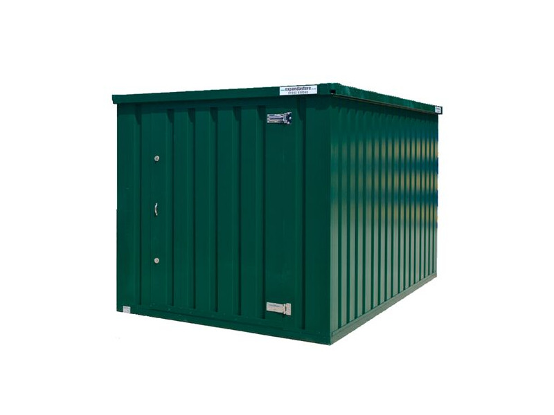 Flat Pack Containers 4m self assembly green 29625 click to zoom image
