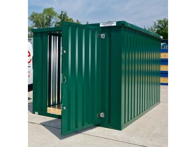Flat Pack Containers 3m self assembly green