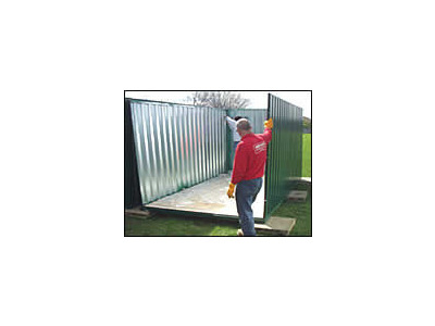 Flat Pack Containers Birmingham Self Assembly Container P4M click to zoom image