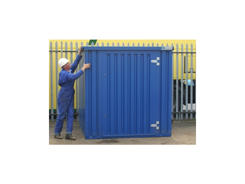 Flat Pack Containers 4m self assembly blue click to zoom image