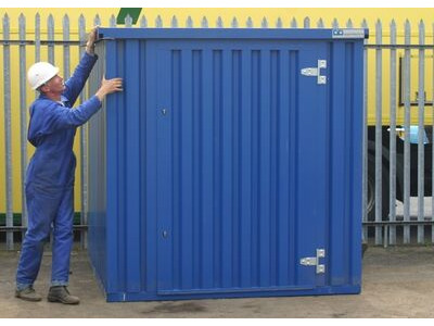 FLAT PACK CONTAINERS FOR SALE 2m self assembly blue 28301