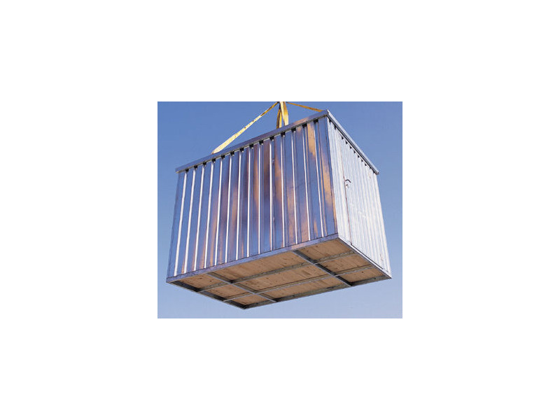 FLAT PACK CONTAINERS FOR SALE 4m self assembly galvanised 26066 click to zoom image