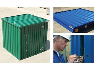 FLAT PACK CONTAINERS FOR SALE 2m self assembly green
