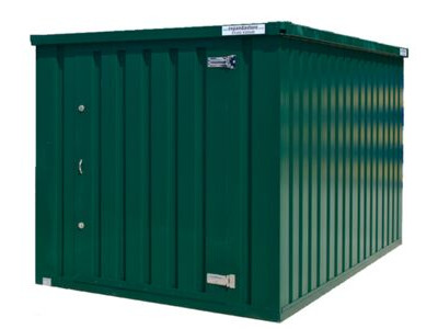 Flat Pack Containers 2m self assembly green