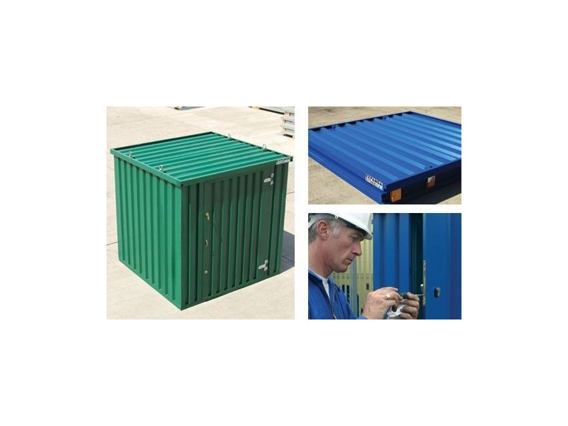 FLAT PACK CONTAINERS FOR SALE 2m self assembly green click to zoom image