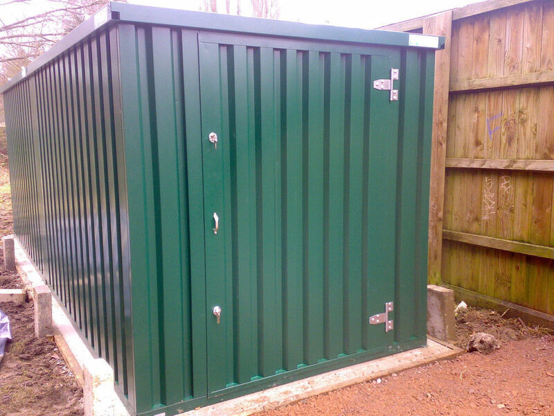 FLAT PACK CONTAINERS FOR SALE 3m self assembly green 14306 click to zoom image