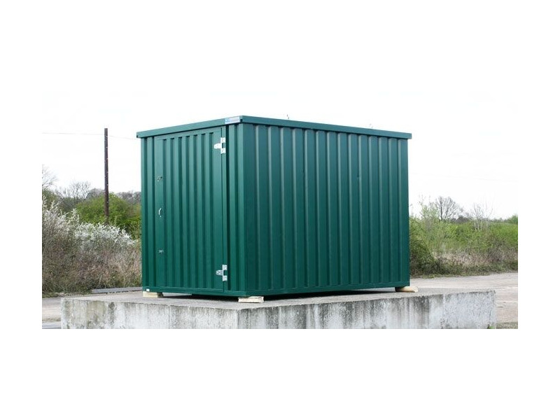 FLAT PACK CONTAINERS FOR SALE 4m self assembly green 37692 click to zoom image