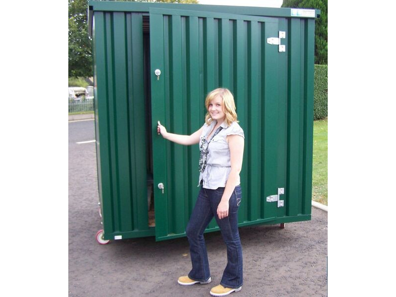 FLAT PACK CONTAINERS FOR SALE 4m self assembly green 20071 click to zoom image